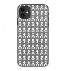 Coque en silicone Apple iPhone 11 - Skull blanc
