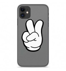 Coque en silicone Apple iPhone 11 - Swag Hand Blanc