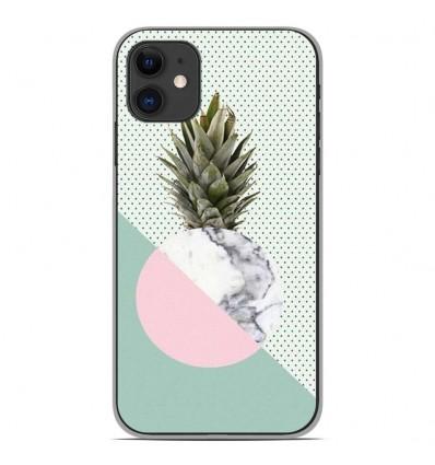 Coque en silicone Apple iPhone 11 - Ananas marbre