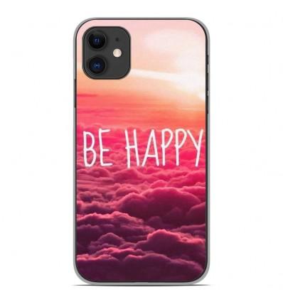 Coque en silicone Apple iPhone 11 - Be Happy nuage