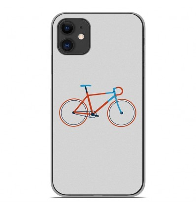 Coque en silicone Apple iPhone 11 - Bike color Hipster