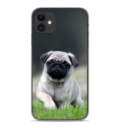 Coque en silicone Apple iPhone 11 - Bulldog français