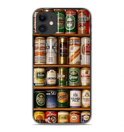 Coque en silicone Apple iPhone 11 - Canettes