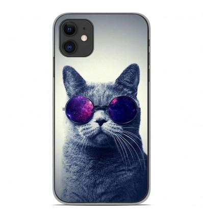 Coque en silicone Apple iPhone 11 - Chat à lunette