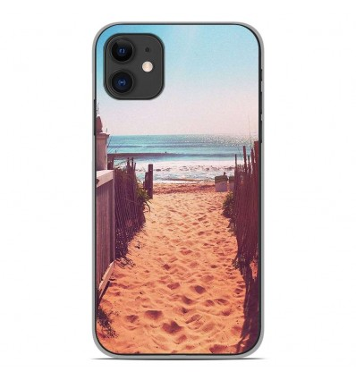 Coque en silicone Apple iPhone 11 - Chemin de plage