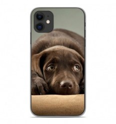 Coque en silicone Apple iPhone 11 - Chiot marron