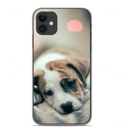 Coque en silicone Apple iPhone 11 - Chiot rêveur