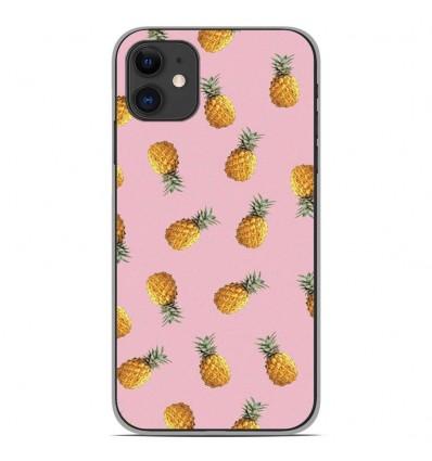 Coque en silicone Apple iPhone 11 - Pluie d'ananas