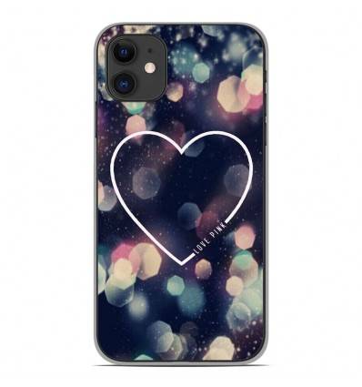Coque en silicone Apple iPhone 11 - Coeur Love