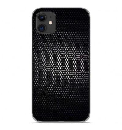 Coque en silicone pour Apple iPhone 11 - Dark Metal