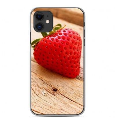 Coque en silicone Apple iPhone 11 - Envie d'une fraise