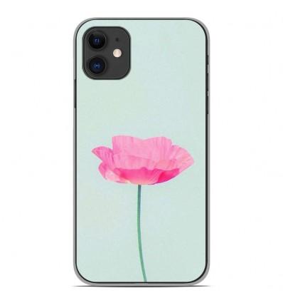 Coque en silicone Apple iPhone 11 - Fleur Rose
