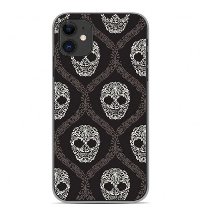 Coque en silicone Apple iPhone 11 - Floral skull