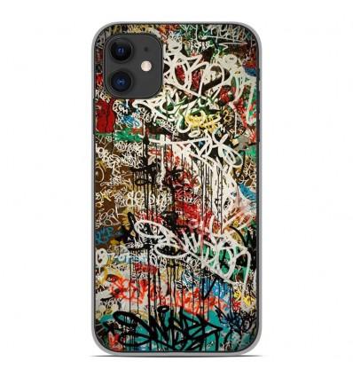 Coque en silicone Apple iPhone 11 - Graffiti 1