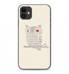 Coque en silicone Apple iPhone 11 - I Love Hiboux