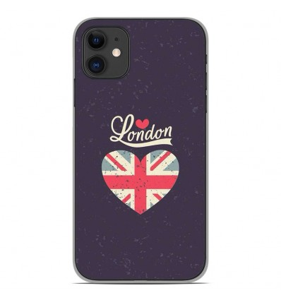 Coque en silicone Apple iPhone 11 - I love London
