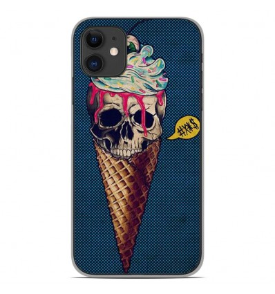 Coque en silicone Apple iPhone 11 - Ice cream skull blue