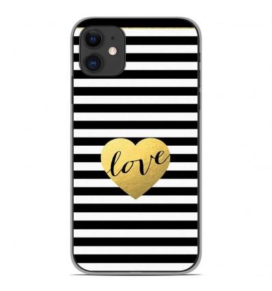 Coque en silicone Apple iPhone 11 - Love bariolé