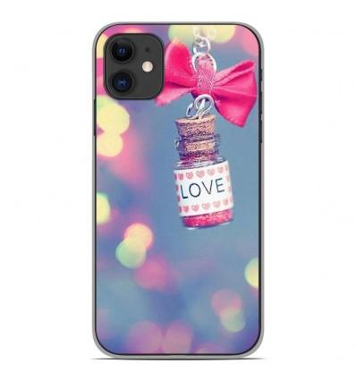 Coque en silicone Apple iPhone 11 - Love noeud rose