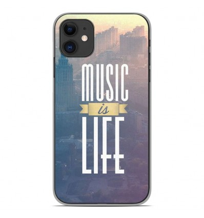 Coque en silicone Apple iPhone 11 - Music is life
