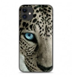 Coque en silicone Apple iPhone 11 - Oeil de léopard