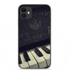 Coque en silicone Apple iPhone 11 - Old piano