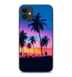 Coque en silicone Apple iPhone 11 - Palmiers colorés