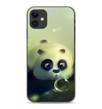 Coque en silicone Apple iPhone 11 - Panda Bubble