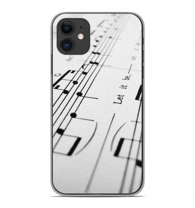 Coque en silicone Apple iPhone 11 - Partition de musique