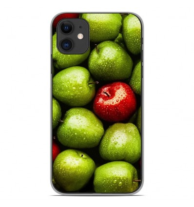 Coque en silicone Apple iPhone 11 - Pommes
