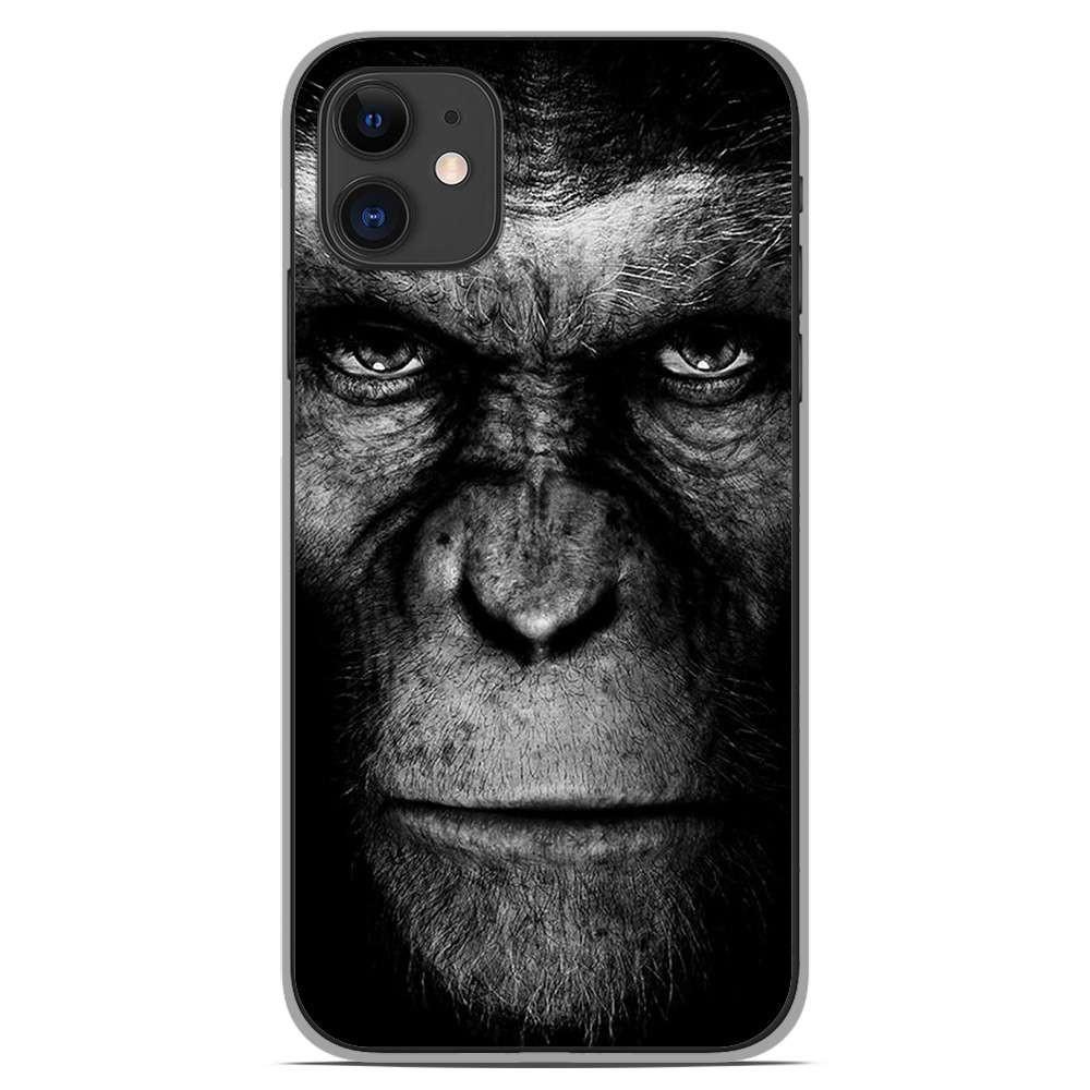 coque en silicone apple iphone 11 singe