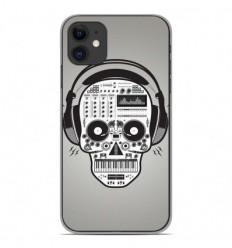 Coque en silicone Apple iPhone 11 - Skull Music