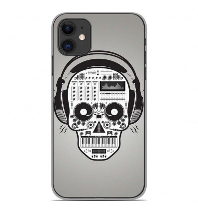 Coque en silicone Apple iPhone 11 - Skull Music