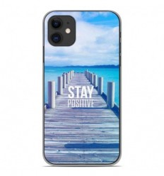 Coque en silicone Apple iPhone 11 - Stay positive
