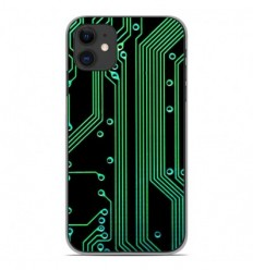 Coque en silicone Apple iPhone 11 - Texture circuit geek