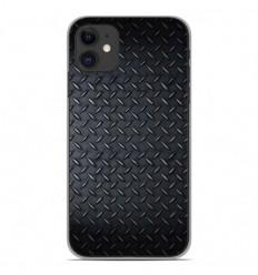 Coque en silicone Apple iPhone 11 - Texture metal