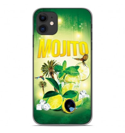 Coque en silicone Apple iPhone 11 - Mojito Forêt