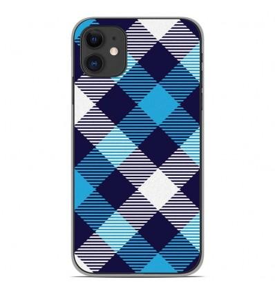 Coque en silicone Apple iPhone 11 - Tartan Bleu
