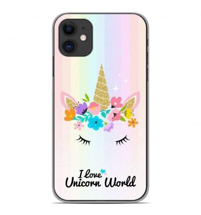 Coque en silicone Apple iPhone 11 - Unicorn World