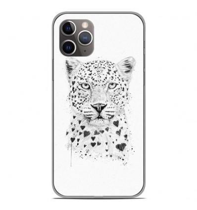 Coque en silicone Apple iPhone 11 Pro - BS Love leopard