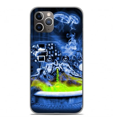 Coque en silicone Apple iPhone 11 Pro - Fontaine