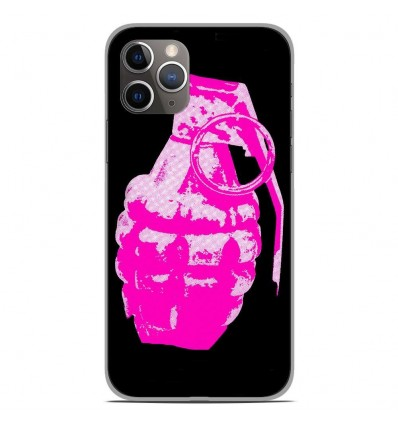 Coque en silicone Apple iPhone 11 Pro - Grenade rose