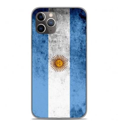 Coque en silicone Apple iPhone 11 Pro - Drapeau Argentine