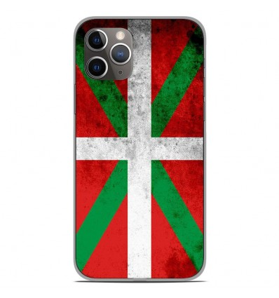 Coque en silicone Apple iPhone 11 Pro - Drapeau Basque