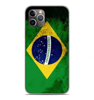 Coque en silicone Apple iPhone 11 Pro - Drapeau Brésil
