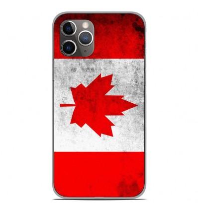 Coque en silicone Apple iPhone 11 Pro - Drapeau Canada