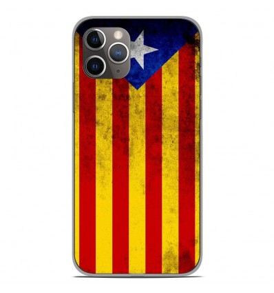 Coque en silicone Apple iPhone 11 Pro - Drapeau Catalogne