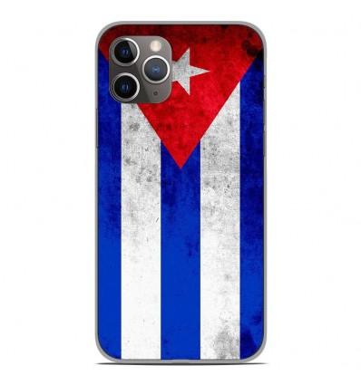 Coque en silicone Apple iPhone 11 Pro - Drapeau Cuba