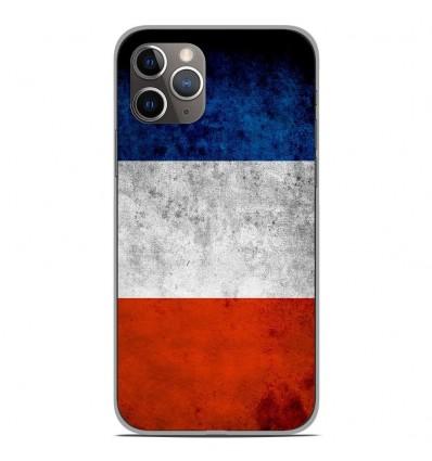 Coque en silicone Apple iPhone 11 Pro - Drapeau France