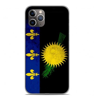 Coque en silicone Apple iPhone 11 Pro - Drapeau Guadeloupe